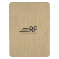 Woodgrain Wireless Charging Mouse Pad with Phone Stand Custom Logo