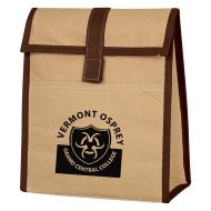 Custom Logo Promotional Woven Paper Insulated Lunch Bag